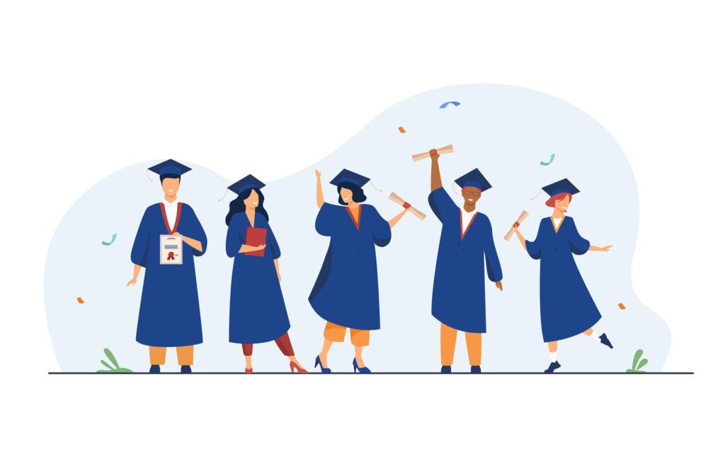 海外大学、卒業式、帽子